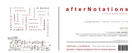 Made4Art - Invito afterNotations