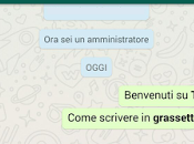 Come inserire grassetto corsivo Whatsapp? Ecco link Download