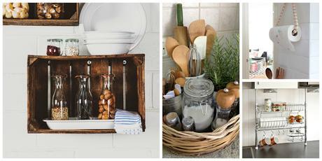 10 idee fai da te salvaspazio per fare ordine in cucina - Idee salvaspazio cucina ...