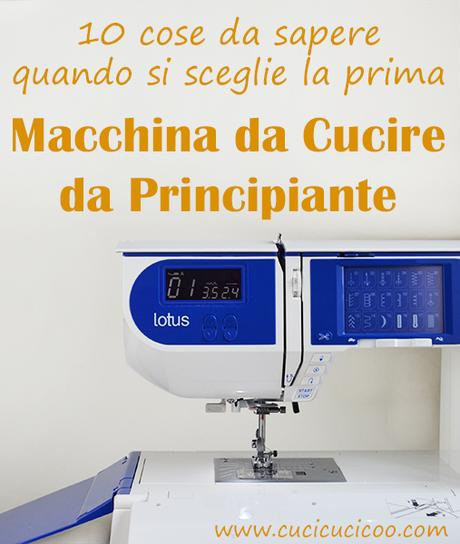 Quale macchina da cucire per principianti 10 cose da for Pedale elettrico per macchina da cucire
