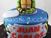 Torta decorata Tartarughe Ninja: Michelangelo pasta zucchero tridimensionale