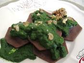 Ravioli merluzzo cacao salsa agli spinaci noci: gioie imprevisti vita vissuta mille
