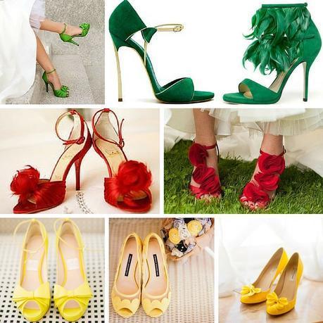 Sposa Scarpe Colorate.Scarpe Da Sposa Colorate Un Arcobaleno Di Colori Paperblog