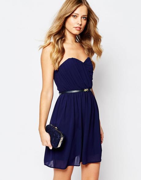 Pochette blu navy elegante