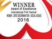 Ecco l'alloro vinto all'International Film Festival Women, Social Issues Zero Discrimination