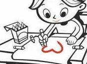 Inviaci disegno lettera bambino/a
