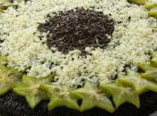 Torta scioglievole cioccolato carambola
