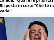 Renzi agli italiani: Qual'è priorità? Risposta coro: casa!