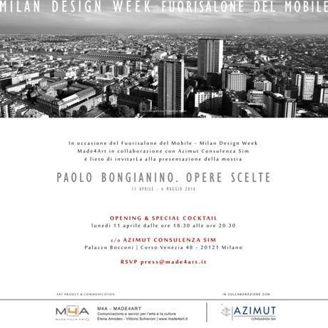 Invito Made4Art - Paolo Bongianino. Opere scelte
