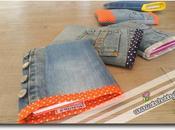 Astucci porta quaderni jeans