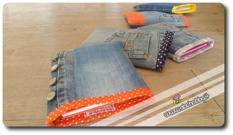 Astucci porta quaderni in jeans paperblog for Porta quaderni