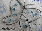 Farfalla ferro perline, tutorial fotografico