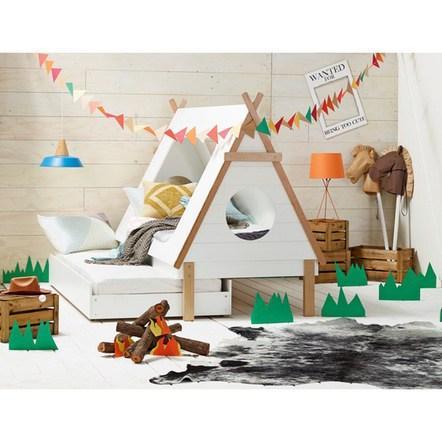 Letto capanna per la camera dei bambini paperblog - La camera dei bambini ...