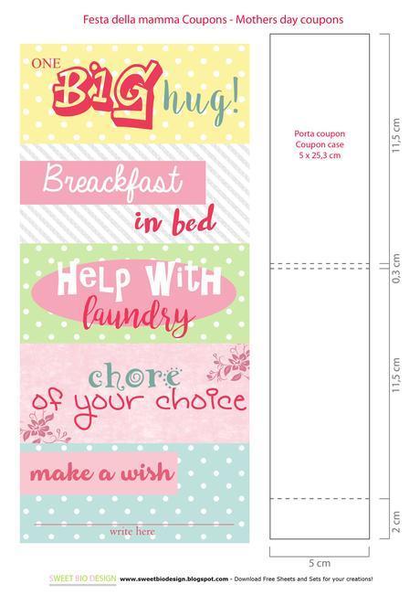 Scatola e coupon festa della Mamma - Coupon gift box Mother's day