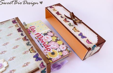 Scatola Valigia porta Album - Suitcase box Album holder DIY