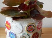 Barattolo latta mosaico tappi corona, senza pulitura l'acido, tutorial