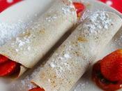 Crepes light farina quinoa, confettura rosa canina fragole