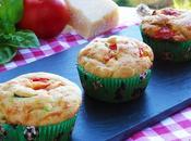 Muffins salati tricolore farina integrale olio
