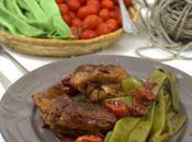 Coniglio arrosto taccole pomodorini