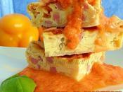 Torta salata prosciutto salsa peperoni
