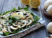 Carpaccio funghi champignon freschi