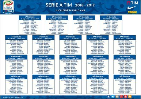 Calendario Serie A Su Sky.Serie A 2016 2017 Il Calendario In Diretta Su Sky Sport