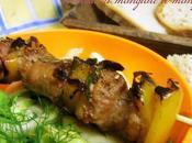 Spiedino luganega grigliato insalatina finocchi rinfrescare!