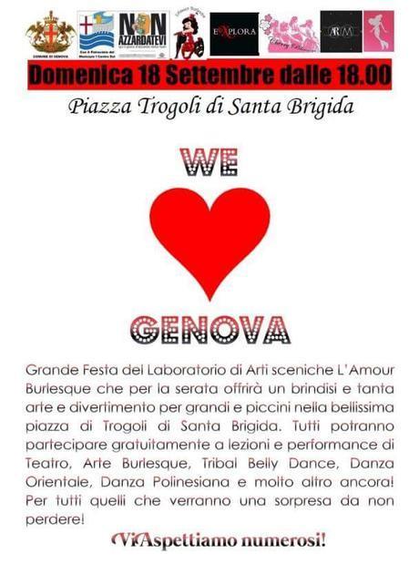 we love genova l'amour burlesque sophie lamour