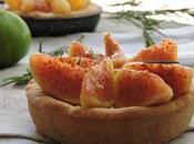 Crostata rosmarino mascarpone fichi