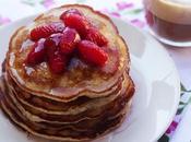 Pancakes vegan senza uova zucchero della frutta
