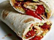 #VEGGYME Wrap hummus, zucchine grigliate pomodorini caramellati