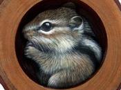 irresistibile scoiattolo striato nella tana!