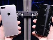 Samsung Galaxy Note iPhone drop test confronto
