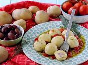 Gnocchi Ripieni Greek Style (con Feta, Olive Kalamata Dadolata Pomodorini all'Aneto)
