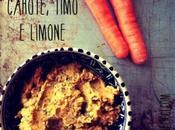 Hummus carote, timo limone