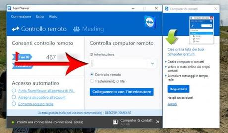 id interlocutore team viewer