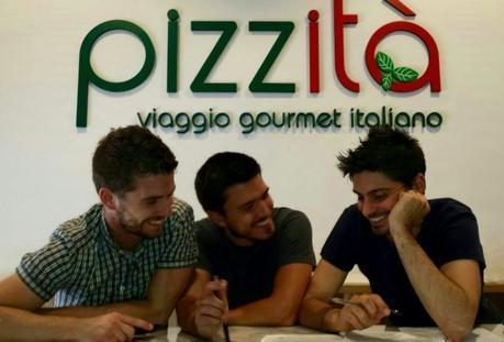 Tre giovani ingegneri per una idea: la pizza al taglio gourmet Pizzità. Da sinistra a destra, Giorgio, Marco, Pablo.