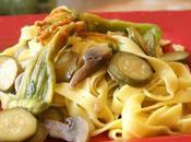 Tagliatelle all'Uovo Zucchine Funghi