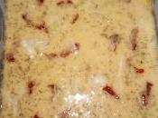 Farinata pomodorini secchi, porri origano