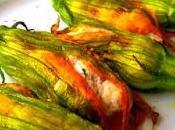 Fiori zucca ripieni crema ricotta cotti forno