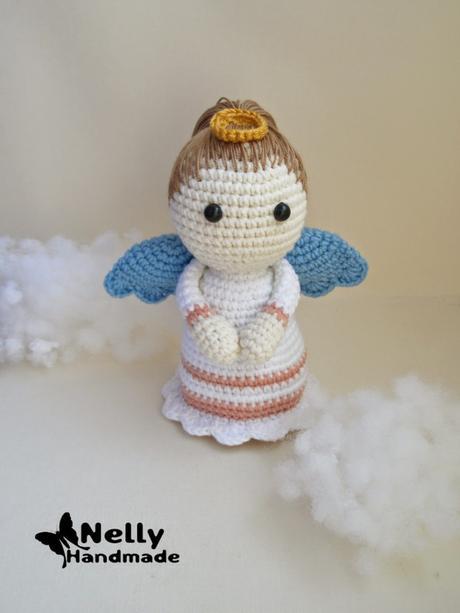 angeli schemi gratis free crochet uncinetto natale tutorial | 613x460