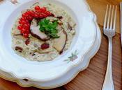 Risotto funghi porcini ribes rosso olio extra vergine d'oliva Zucchi aromatizzato all'aglio
