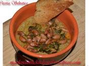Zuppa fagioli borlotti cicoria selvatica