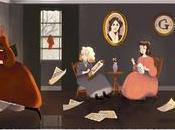Doodle Google Louisa Alcott, autrice Piccole Donne