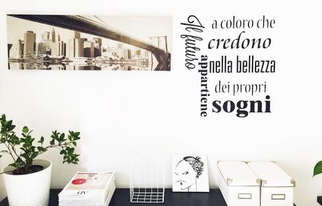 Scritte sulle pareti di casa elegant frasi per muro - Scritte sulle pareti di casa ...