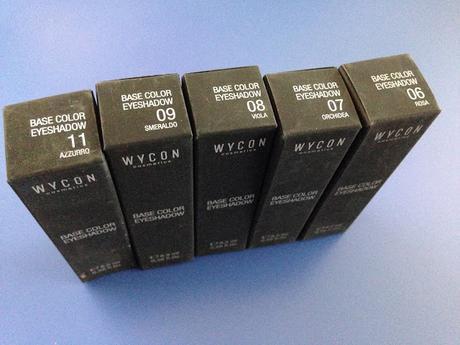Wjcon Base Color Eyeshadow texture morbida e cremosa 06 - 07 - 08 - 09 - 11
