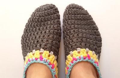 Pantofole ad uncinetto ... 5 idee per i grandi !