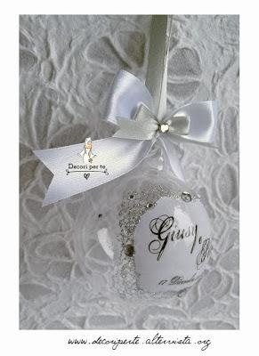 Bomboniere Matrimonio Natalizie.Bomboniera Matrimonio Con Pallina Di Natale In White Paperblog
