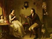 'The Proposal' Frank Stone: Victorian values virtues taught silence paintbrush.