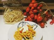 Pasta tricolore: pomodorini piennolo, cime rapa mozzarella bufala